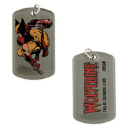 WOLVERINE CROUCH DOUBLE SIDED DOG TAG