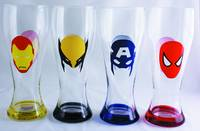 MARVEL HEROES MASKS 4PC PILSNER SET