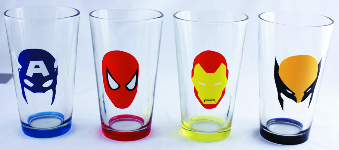 MARVEL HEROES MASKS 4PC PINT SET