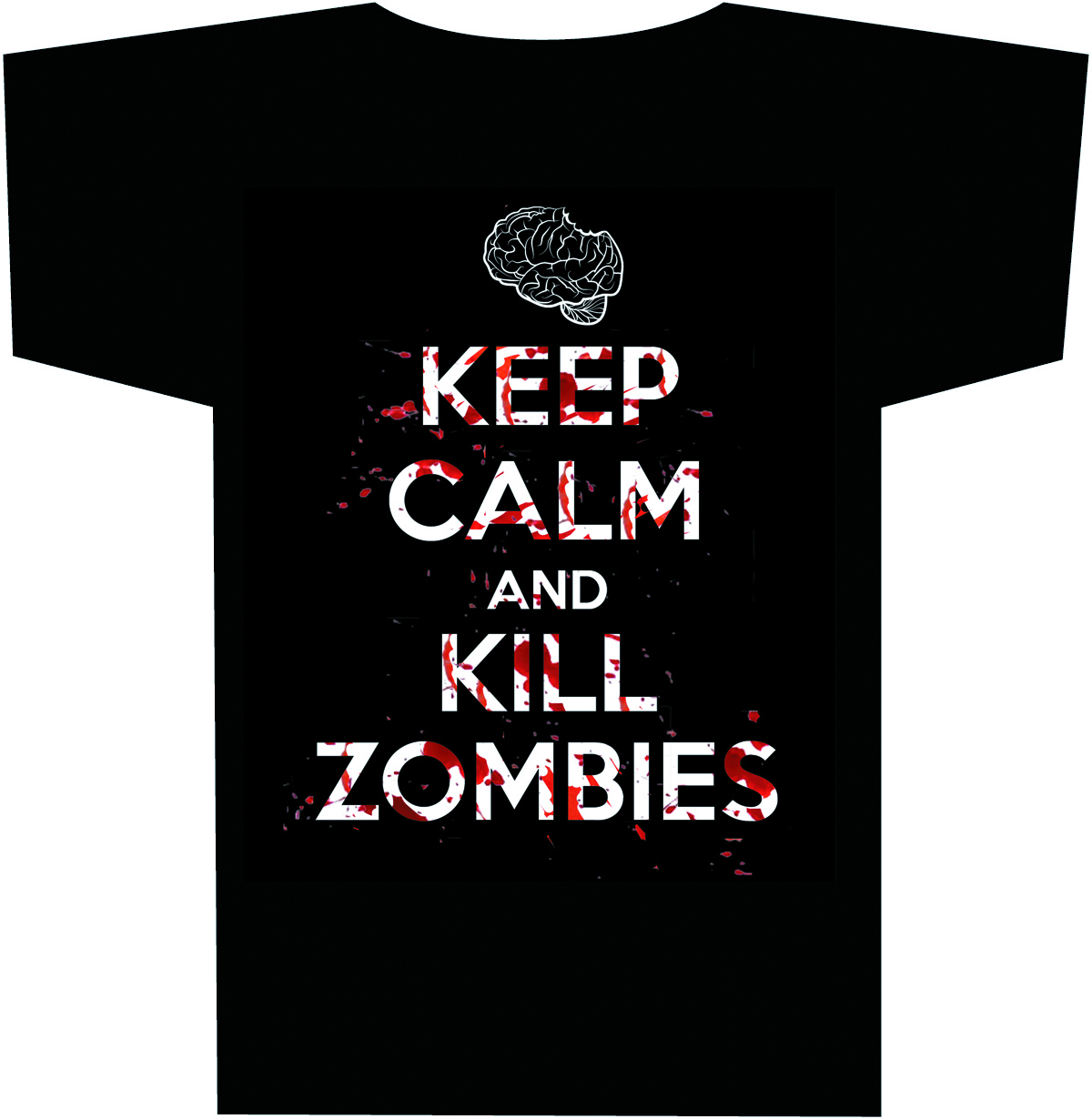 KEEP CALM & KILL ZOMBIES T/S XL