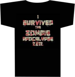 I SURVIVED THE 2012 ZOMBIE APOCALYPSE T/S LG