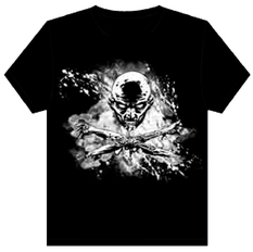 WALKING DEAD T/S SKULL & CROSSBONES LG