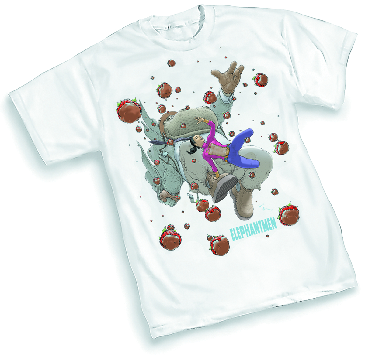 ELEPHANTMEN CHOCOLATE BERRIES BY QUITELY T/S XL