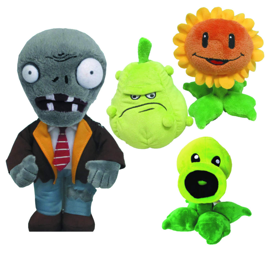 PLANTS VS ZOMBIES 7-IN PLUSH ASST