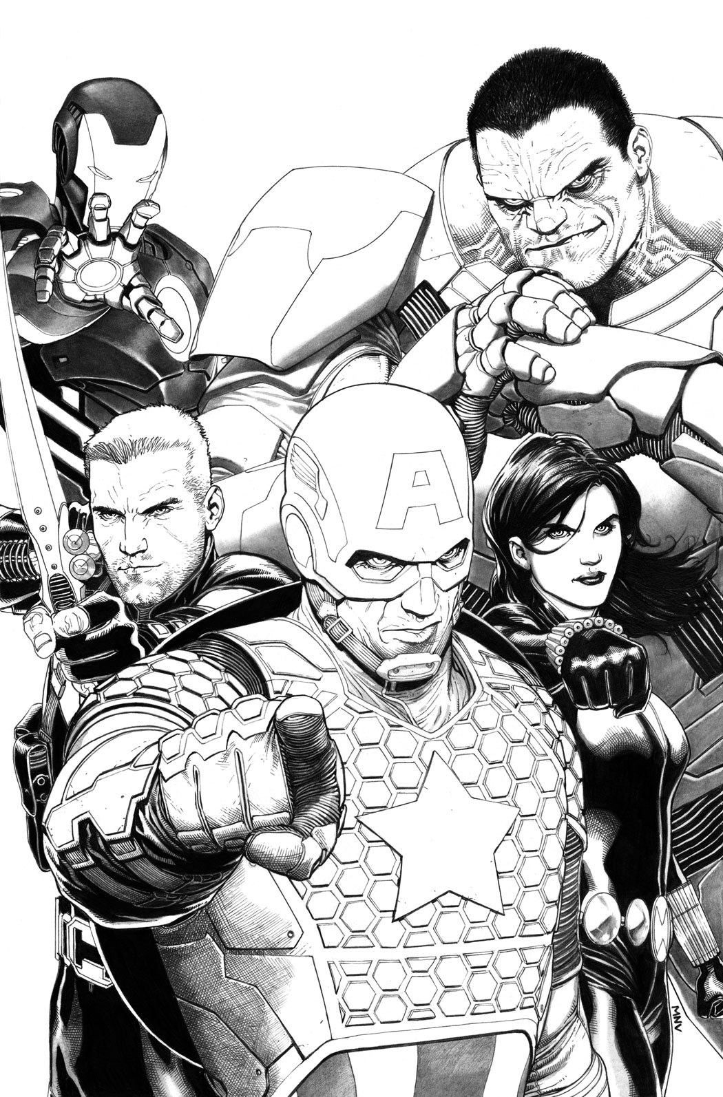 AVENGERS #1 MCNIVEN SKETCH VAR NOW