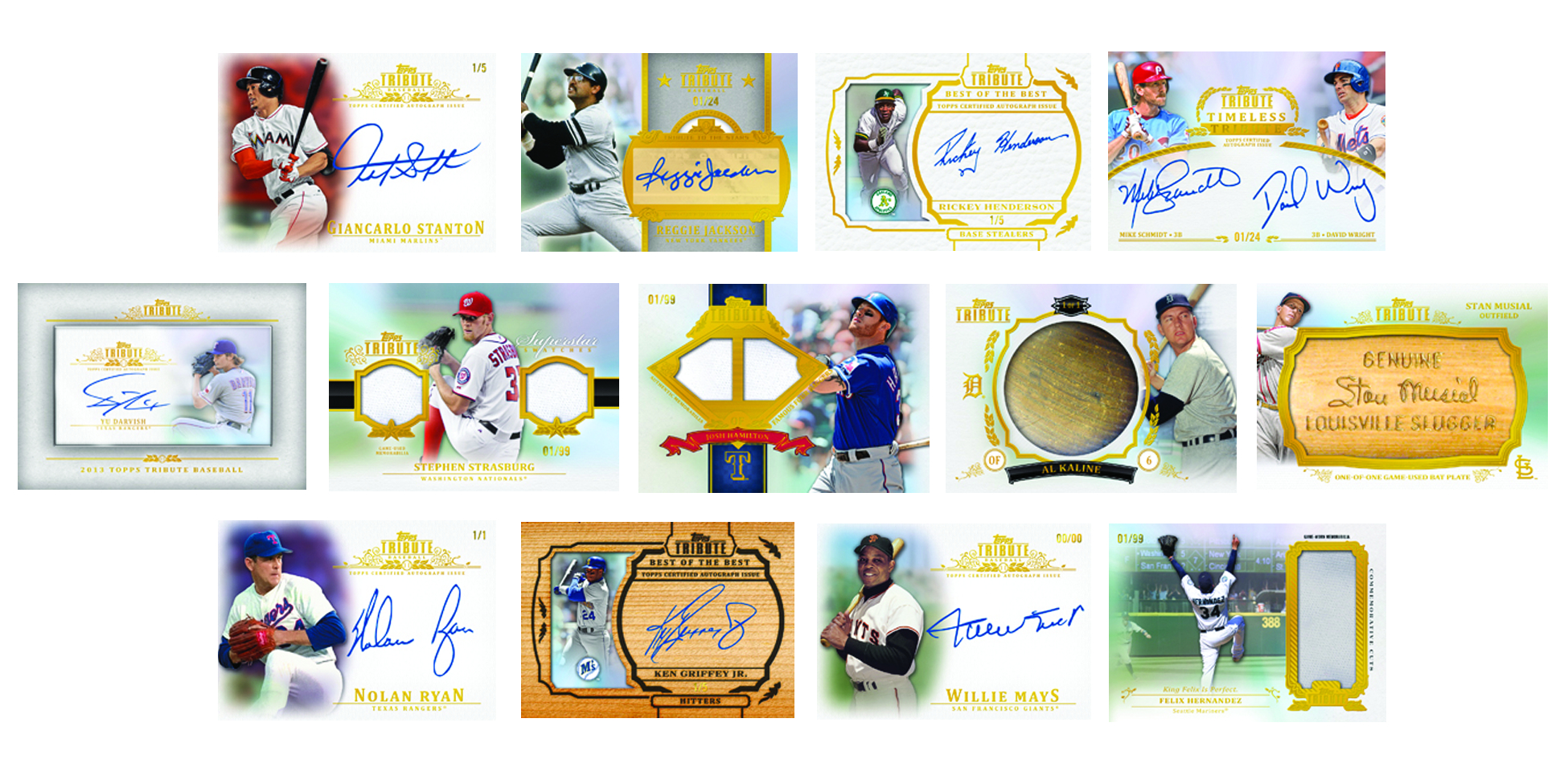 TOPPS 2013 TRIBUTE BASEBALL T/C BOX