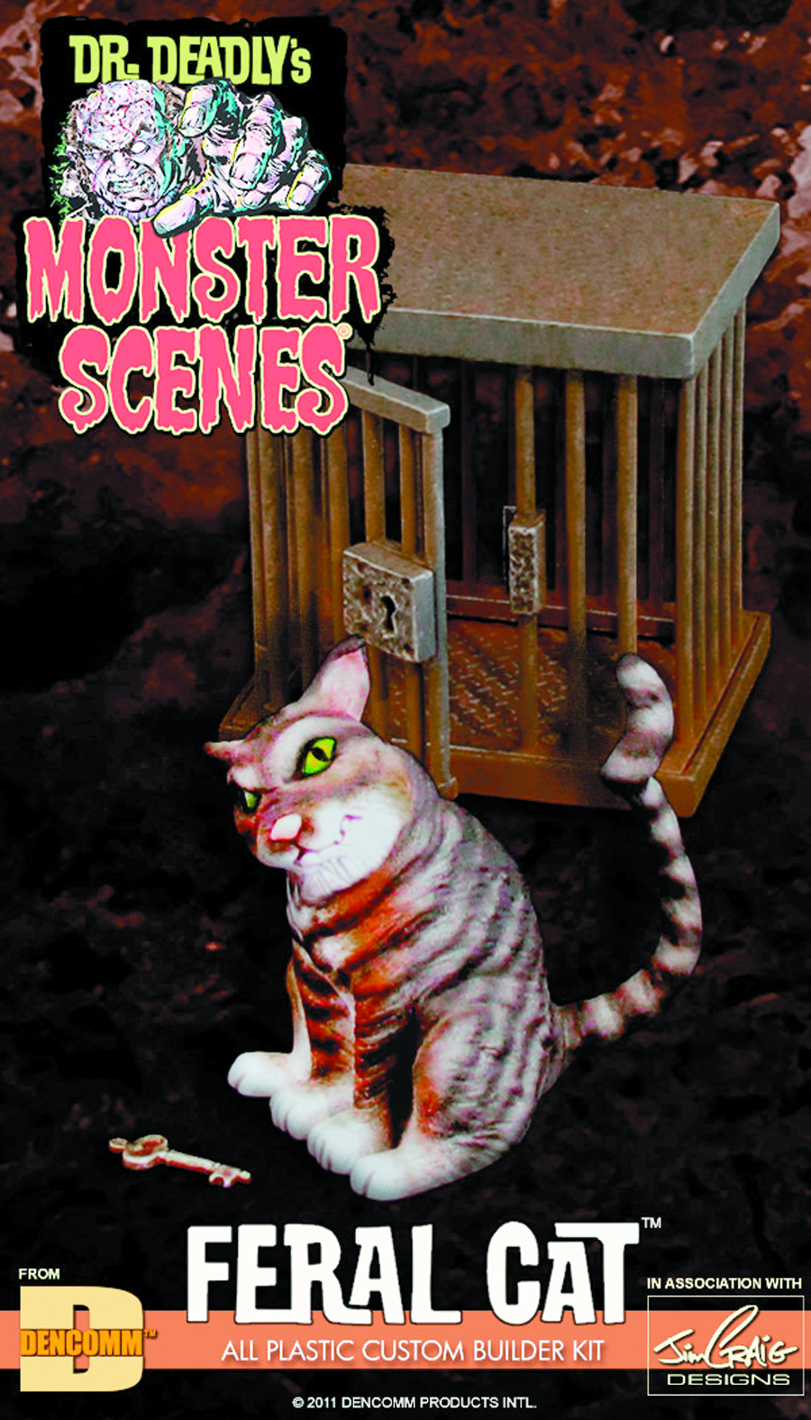 MONSTER SCENES FERAL CAT MODEL KIT