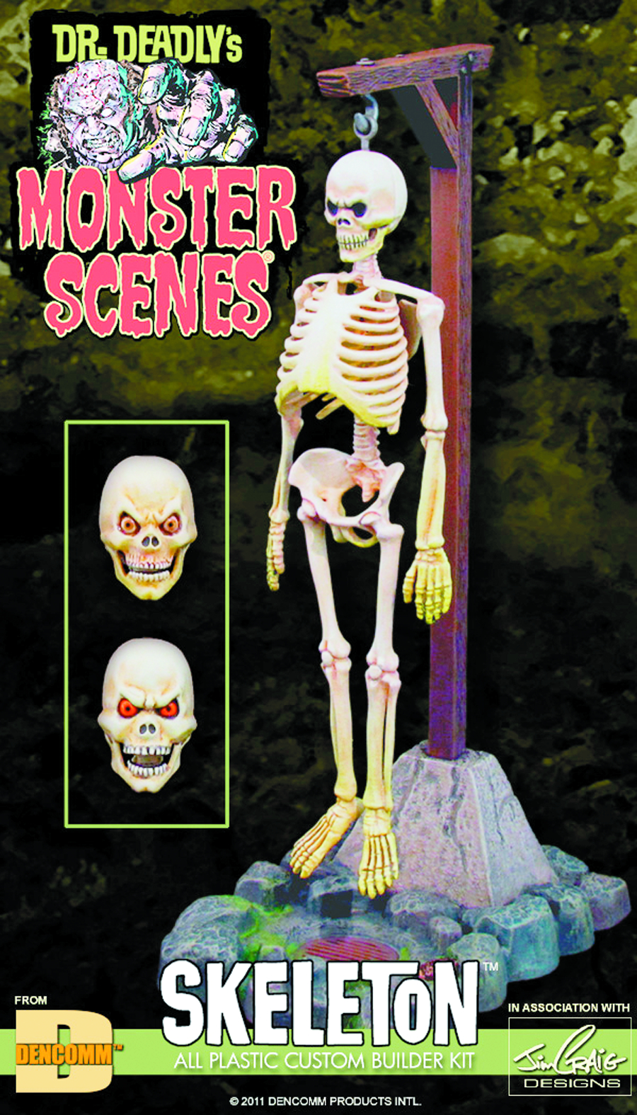 MONSTER SCENES SKELETON MODEL KIT