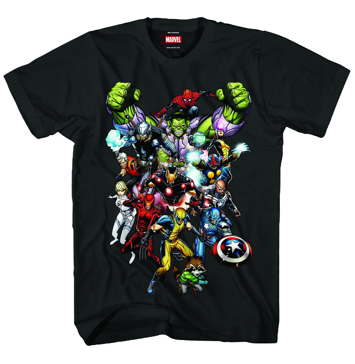 MARVEL HEROES MARVEL NOW PX BLK T/S LG