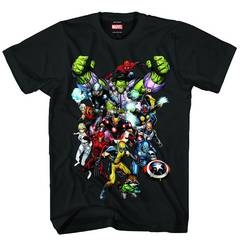 MARVEL HEROES MARVEL NOW PX BLK T/S XL