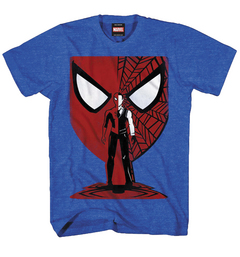 SPIDER-MAN VECTOR MASK PX BLUE HEATHER T/S MED