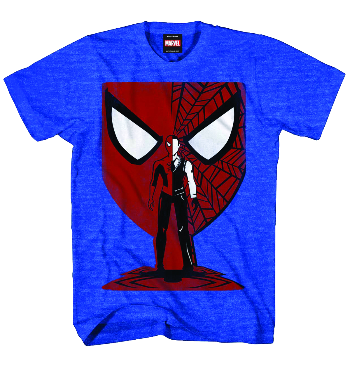 SPIDER-MAN VECTOR MASK PX BLUE HEATHER T/S XL