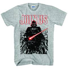 STAR WARS JOIN THEM PX GREY HEATHER T/S MED