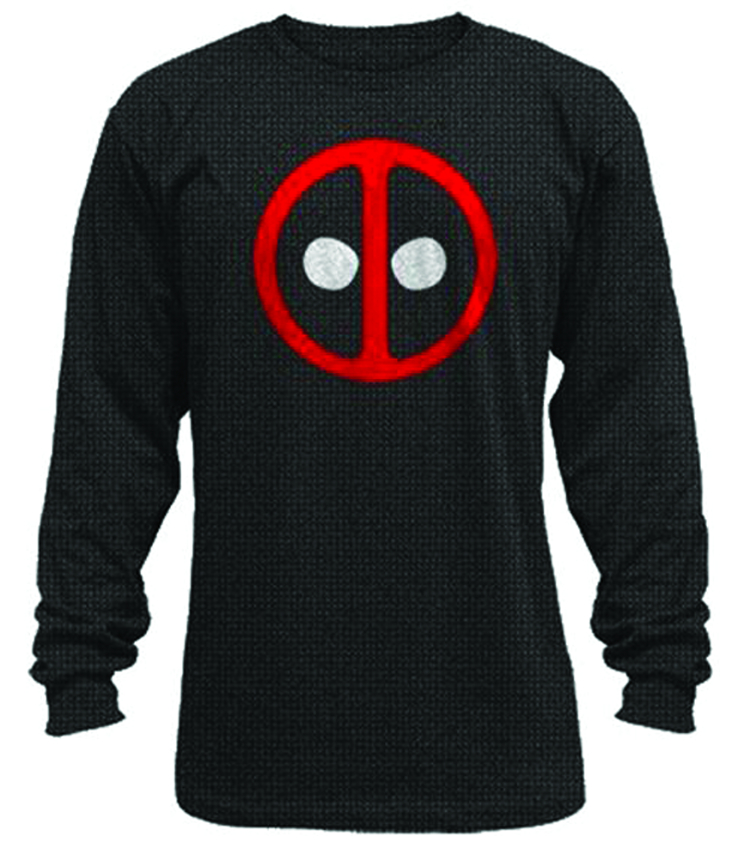 DEADPOOL PX BLACK THERMAL SHIRT MED