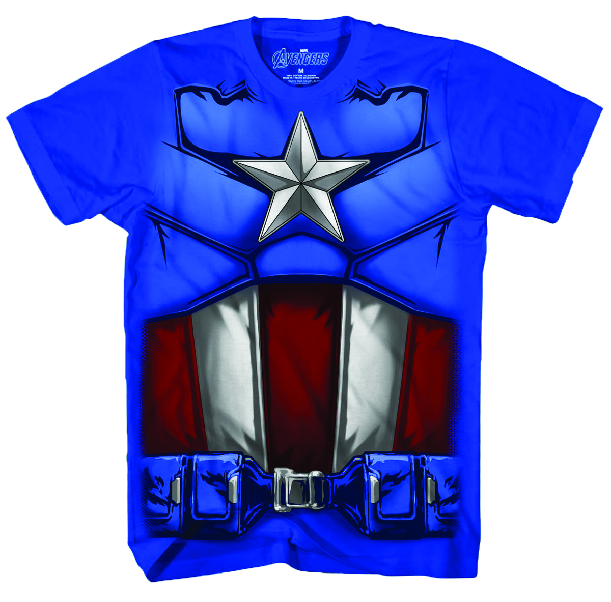 AVENGERS MOVIE CAPTAIN SUIT BLUE T/S MED
