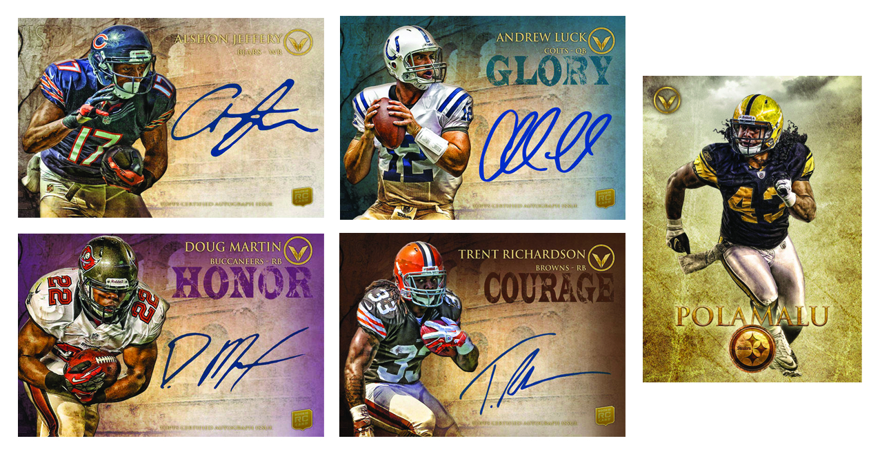 TOPPS 2012 VALOR FOOTBALL T/C BOX