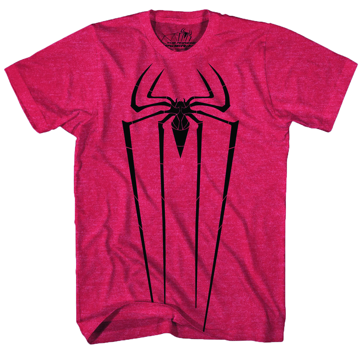 SPIDER-MAN BLACK ICON RED HEATHER T/S LG