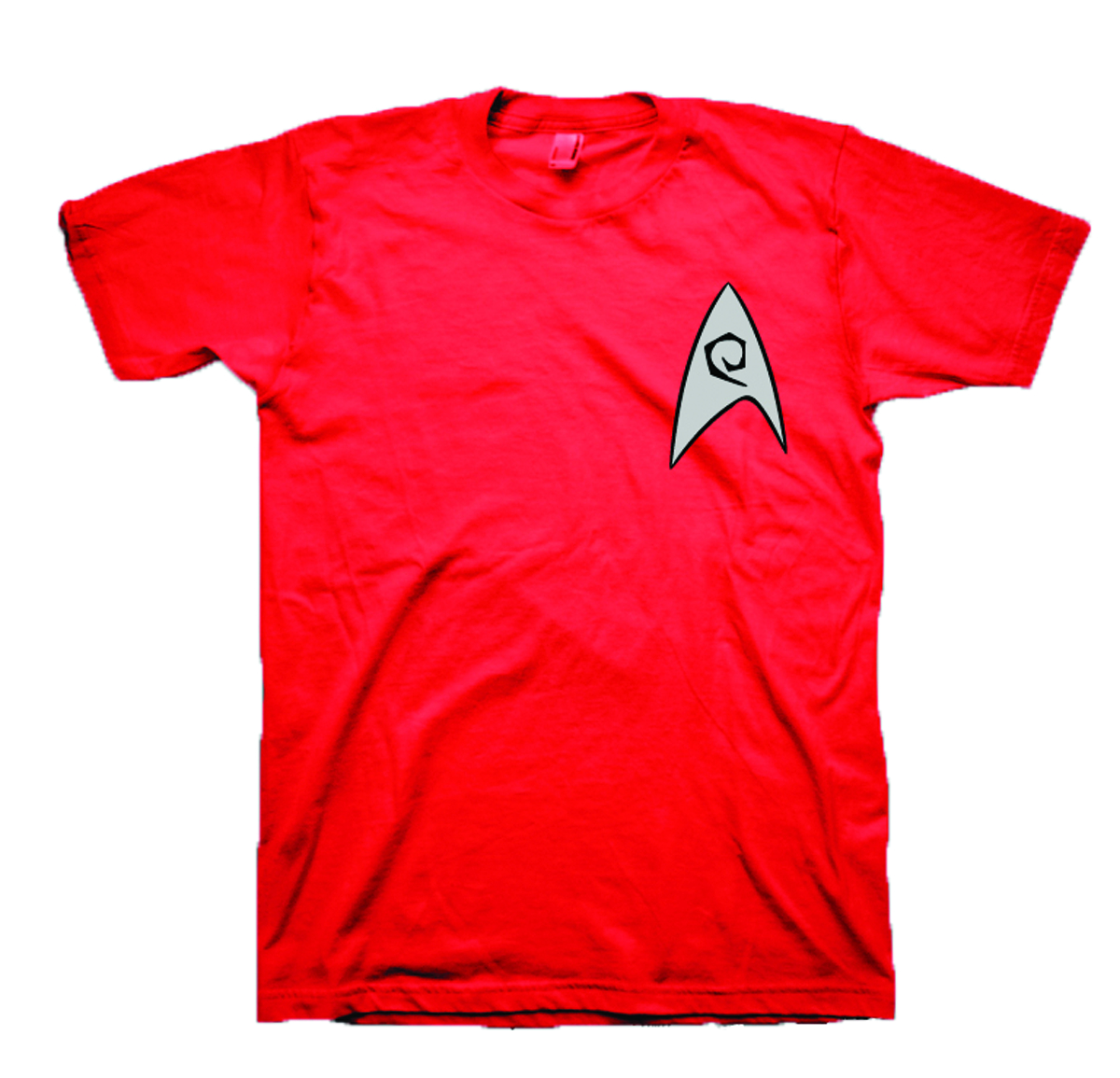 STAR TREK RED SHIRT COSTUME T/S MED
