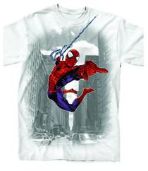 SPIDER-MAN THROUGH THE CITY PX WHT T/S LG