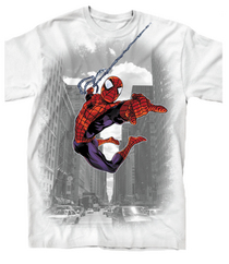 SPIDER-MAN THROUGH THE CITY PX WHT T/S XXL