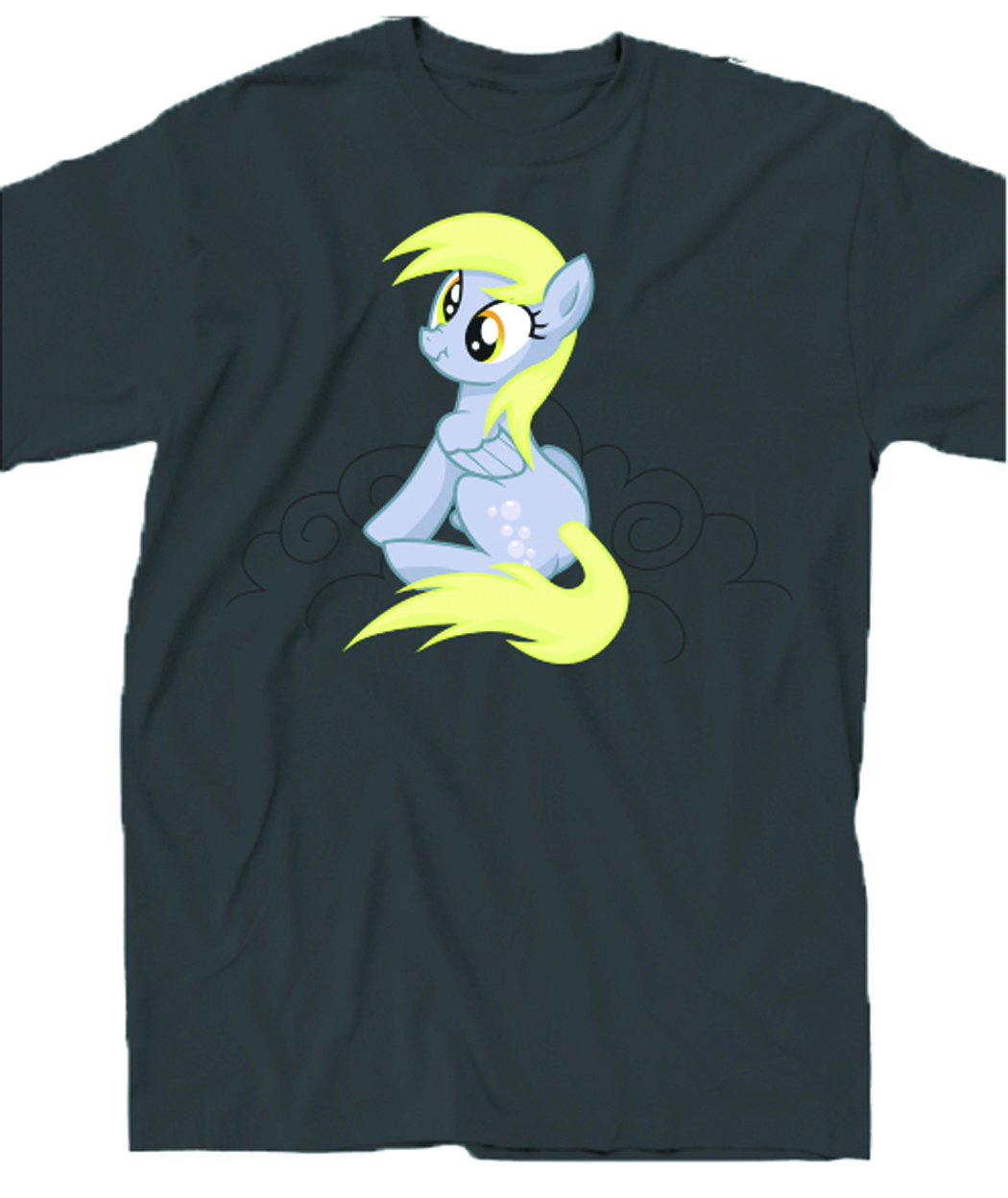 MY LITTLE PONY MY BAD BUTTON GREY T/S MED