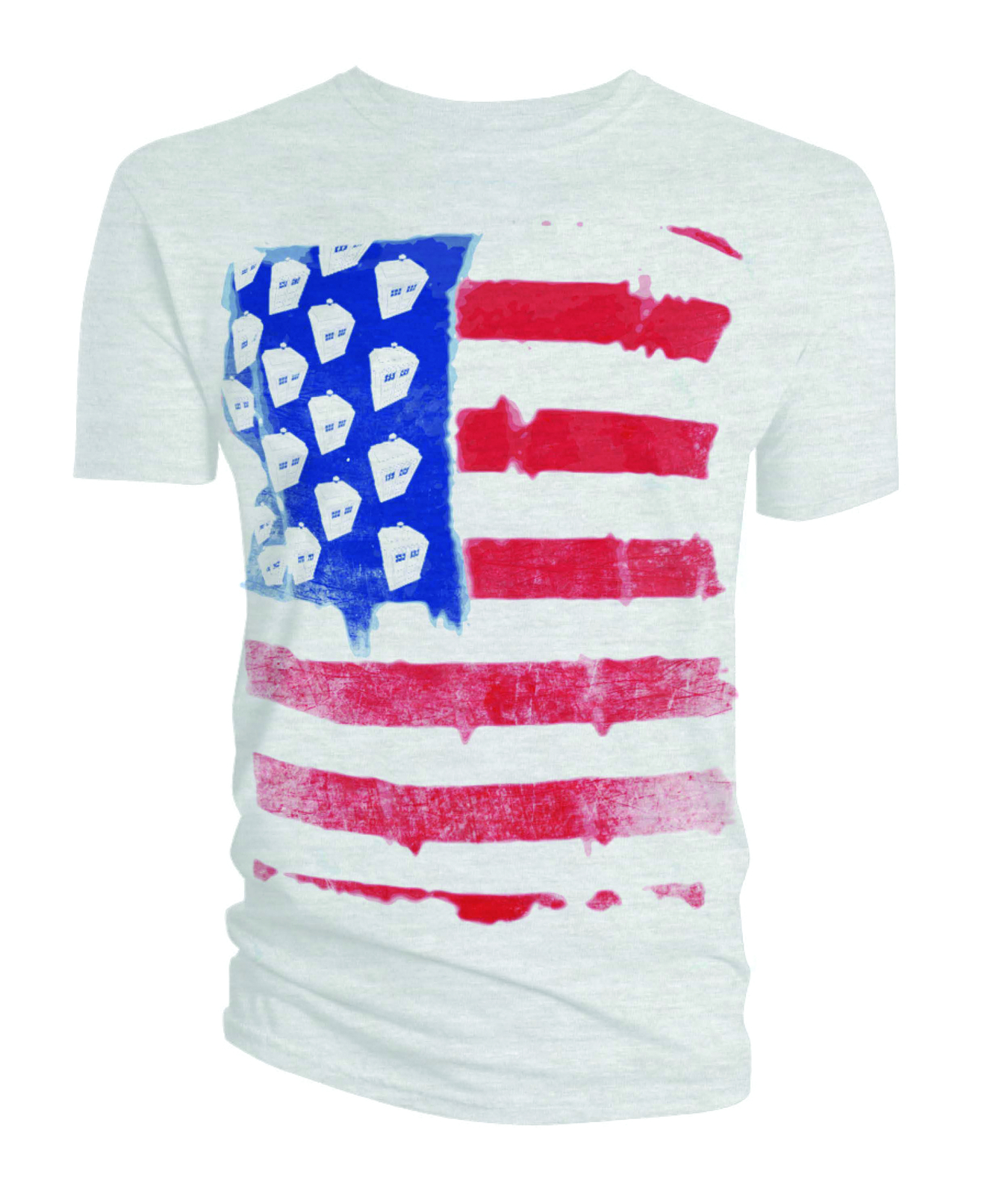 DOCTOR WHO STARS AND STRIPES T/S LG