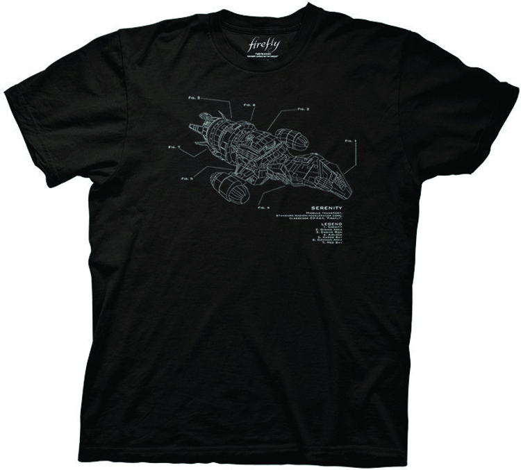 FIREFLY SERENITY DIAGRAM T/S XL