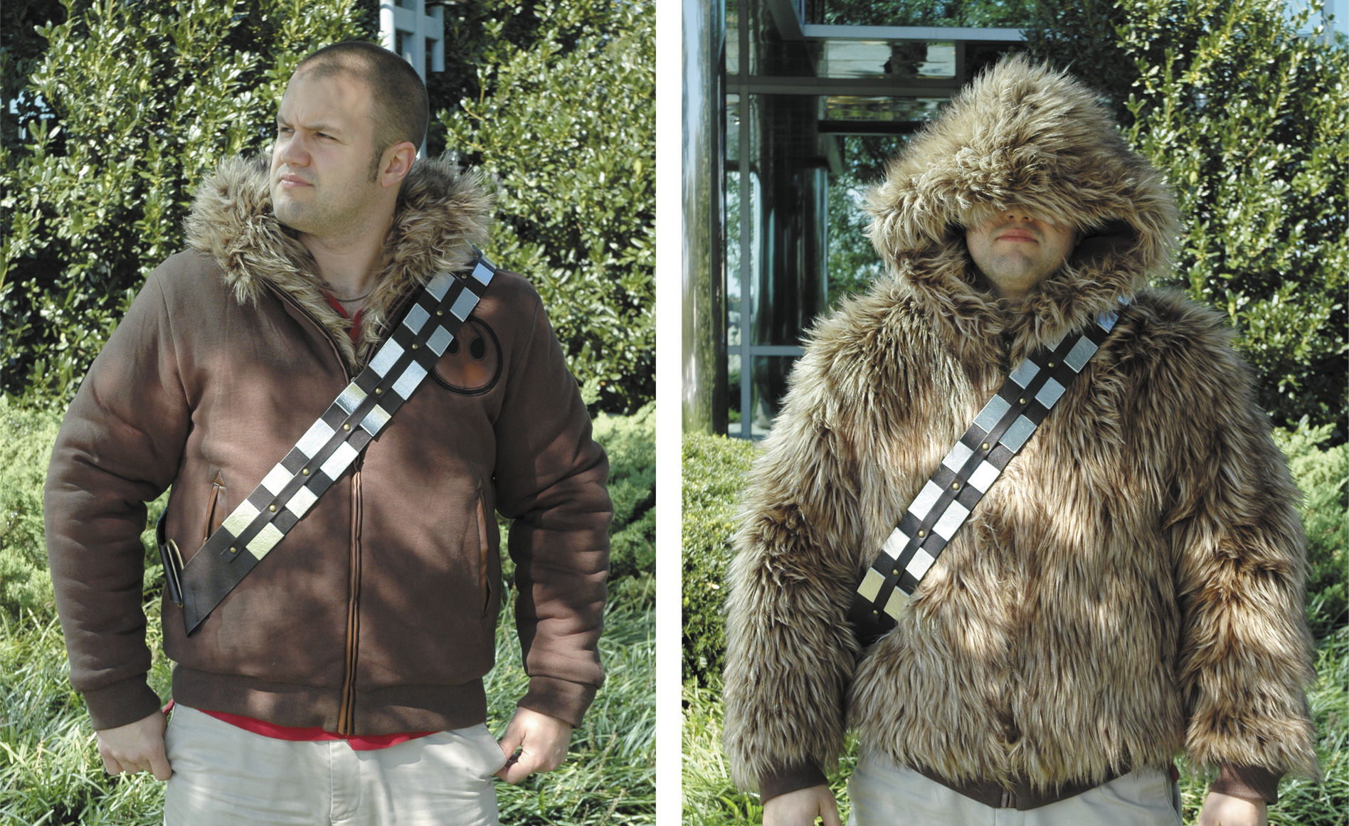 STAR WARS CHEWBACCA REVERSIBLE ZIP HOODIE MED