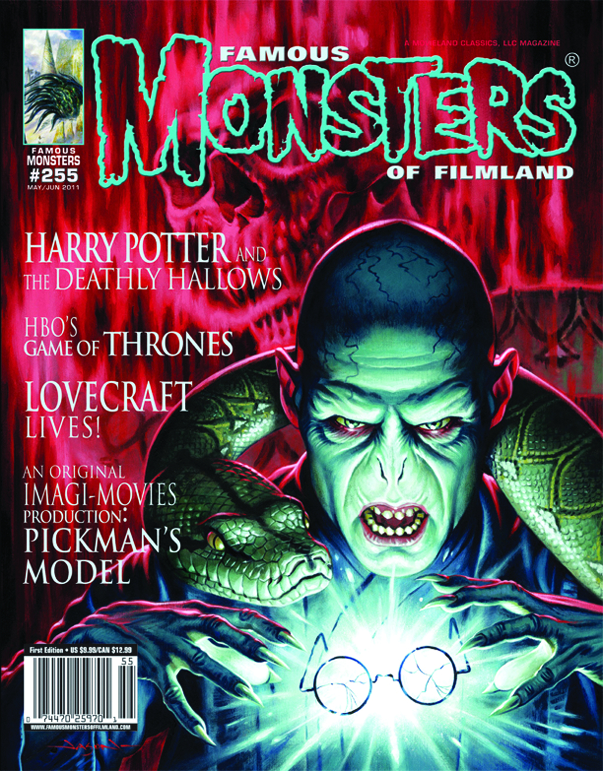 FAMOUS MONSTERS OF FILMLAND #255 DEATHLY HALLOWS CVR