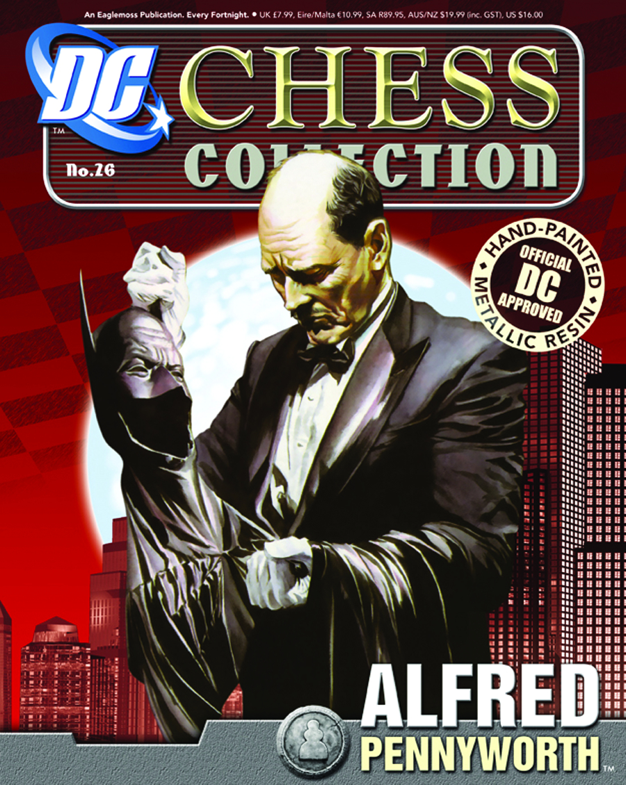 DC SUPERHERO CHESS FIG COLL MAG #26 ALFRED PENNYWORTH WHITE