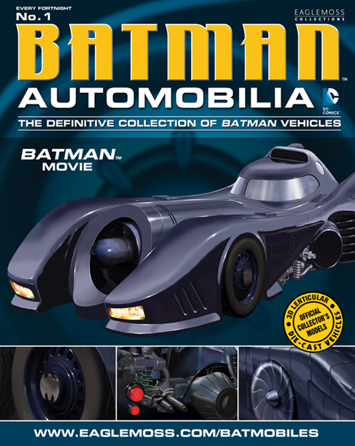 DC BATMAN AUTO FIG MAG #1 1989 BATMAN MOVIE