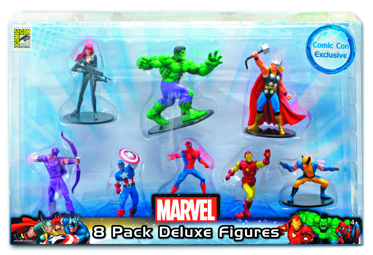 SDCC 2012 MARVEL 4 INCH 8PC FIGURINE SET