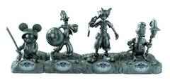 SDCC 2012 KINGDOM HEARTS SILVER PLATED RESIN FIG SET