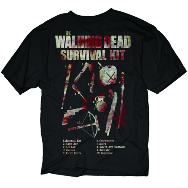 WALKING DEAD HOW TO SURVIVE BLK T/S MED