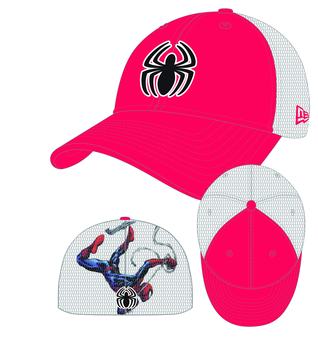HEROMESH SPIDER-MAN STRETCH FIT CAP
