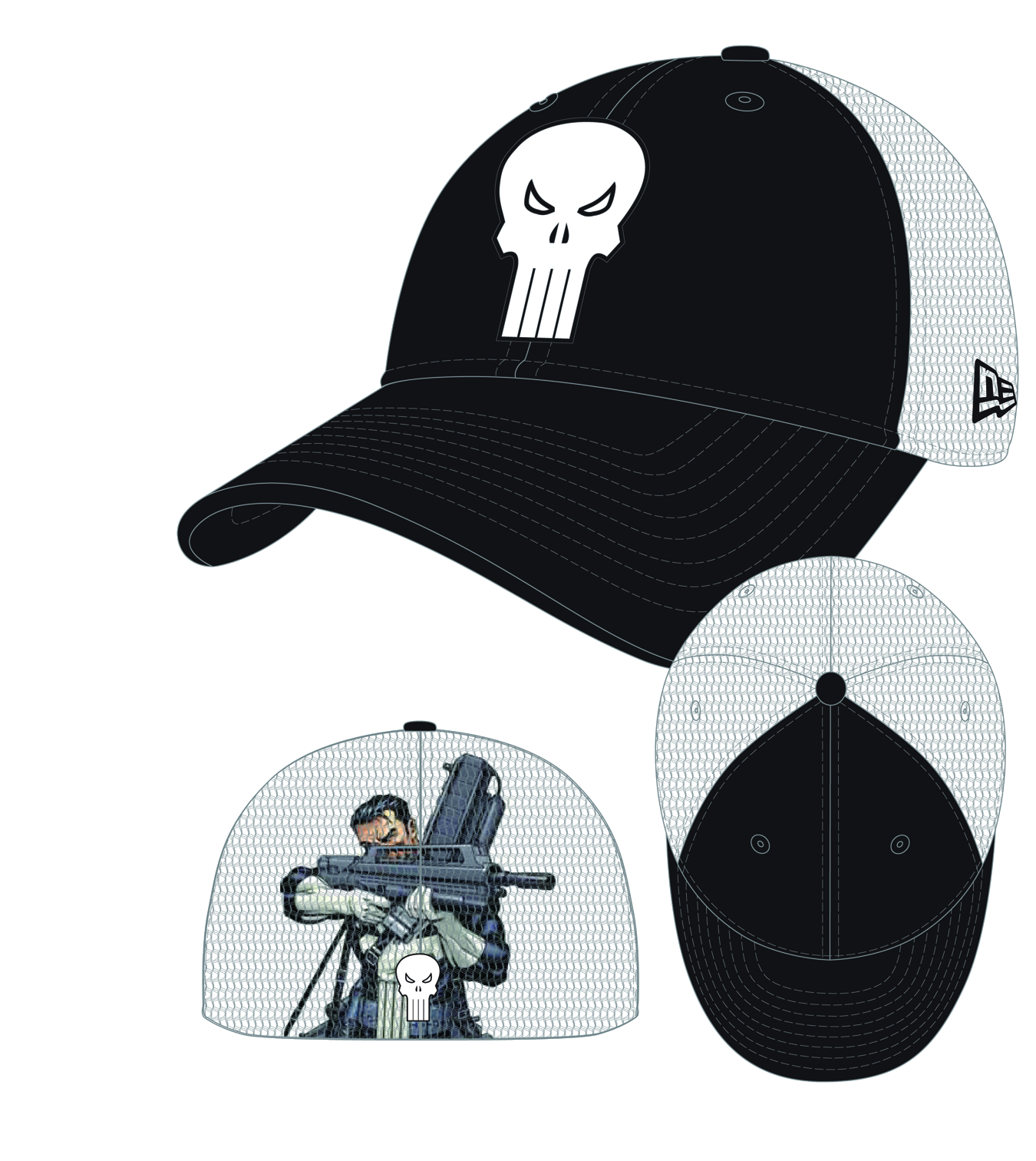 HEROMESH PUNISHER STRETCH FIT CAP