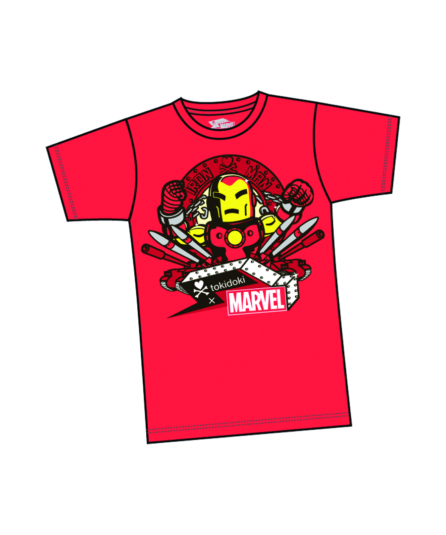 MARVEL X TOKIDOKI IRON MAN MISSLE T/S XL