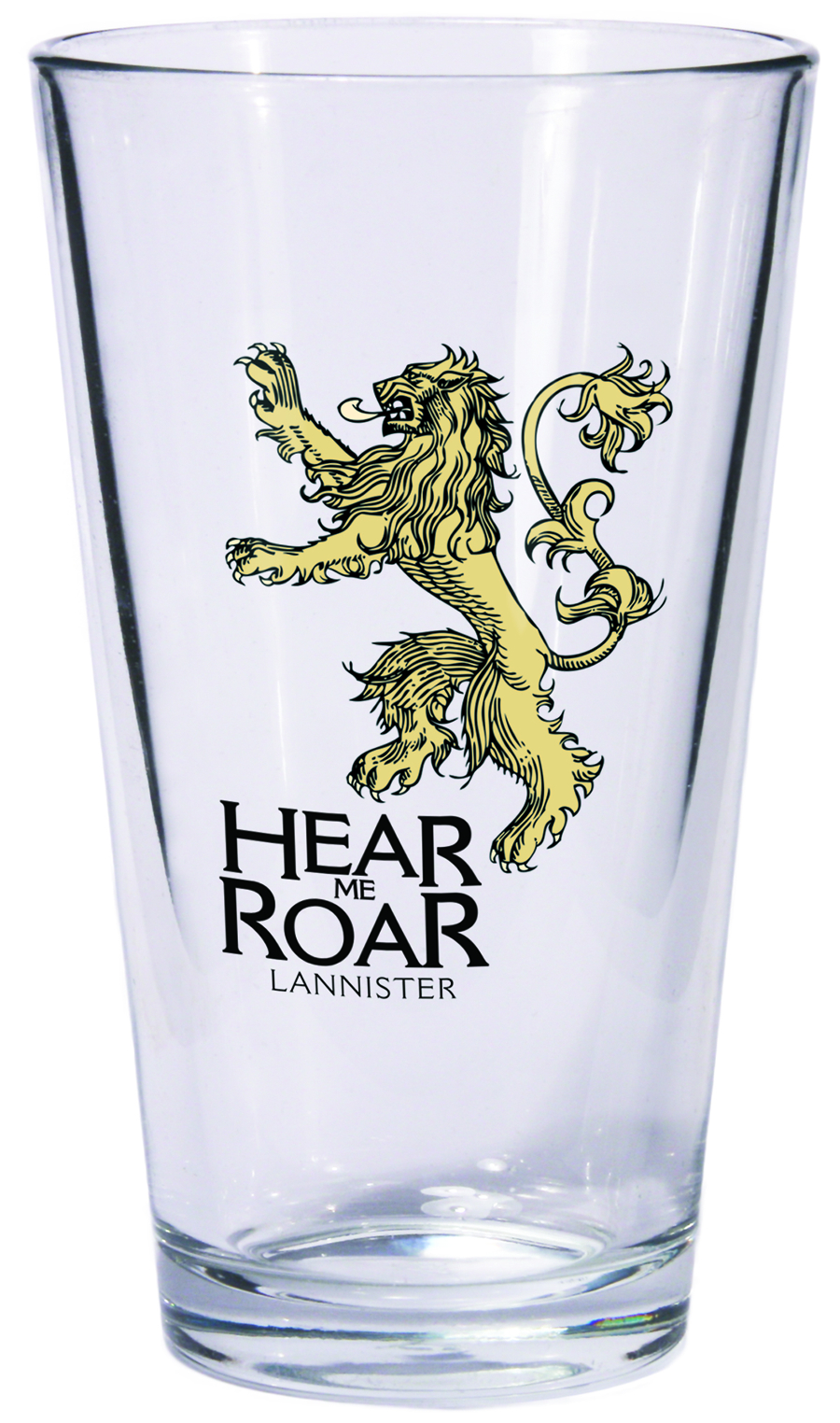GAME OF THRONES PINT GLASS LANNISTER SIGIL