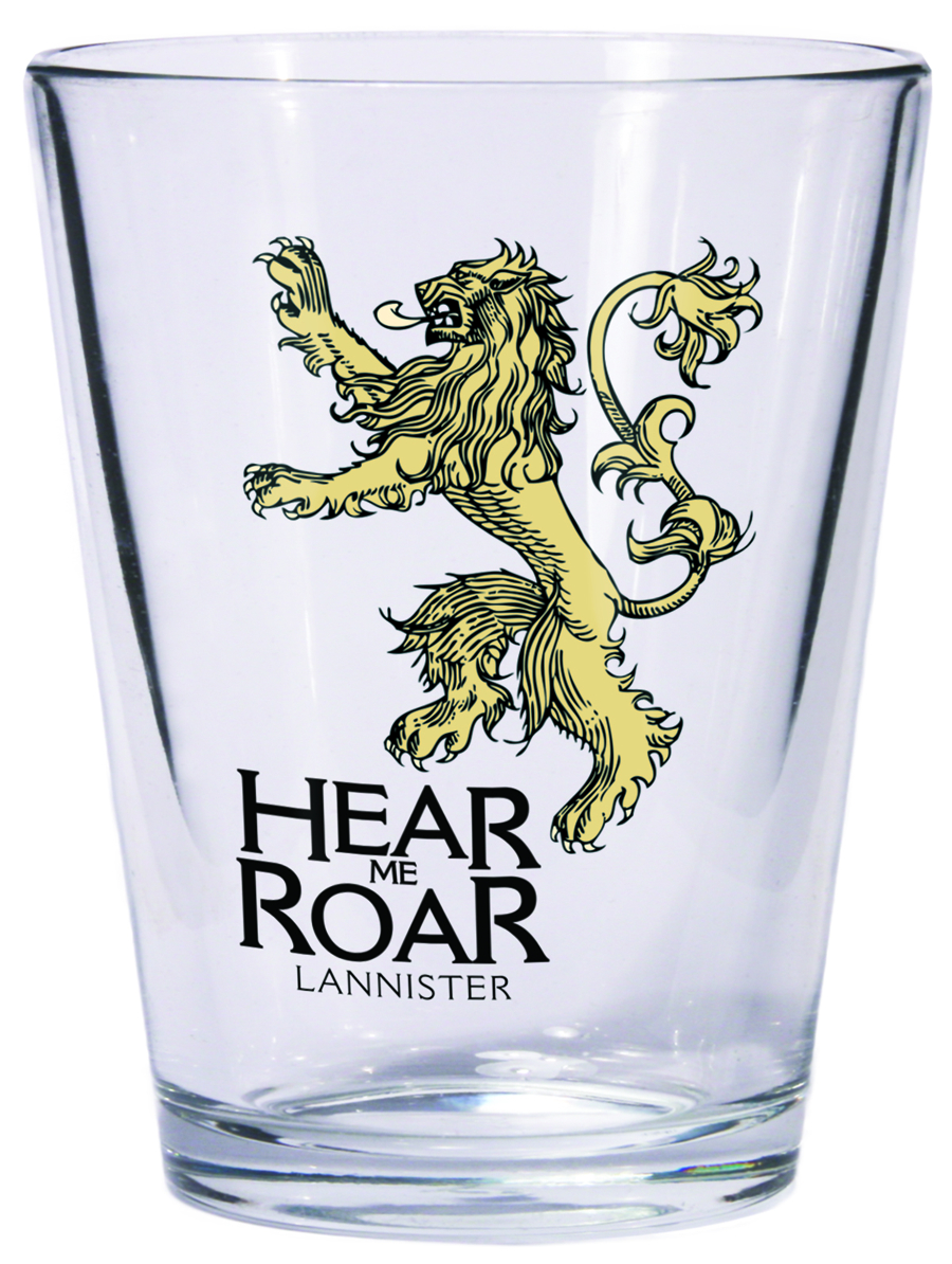 GAME OF THRONES SHOT GLASS LANNISTER SIGIL