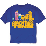 ADVENTURE TIME CLONED FRIENDS PX BLUE T/S LG