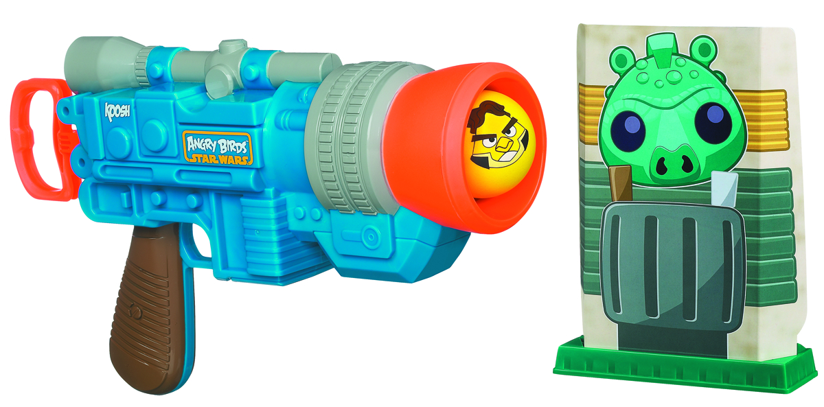 SW ANGRY BIRDS KOOSH HAN SOLO BALL LAUNCHER CS