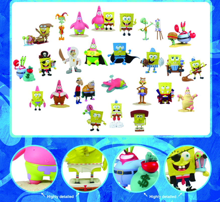 SPONGEBOB MINI FIGURE WORLD MR KRABS & PLANKTON