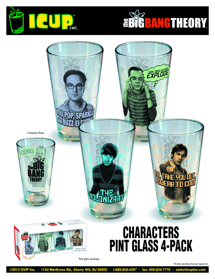 BIG BANG THEORY 4-PACK PINT GLASS SET