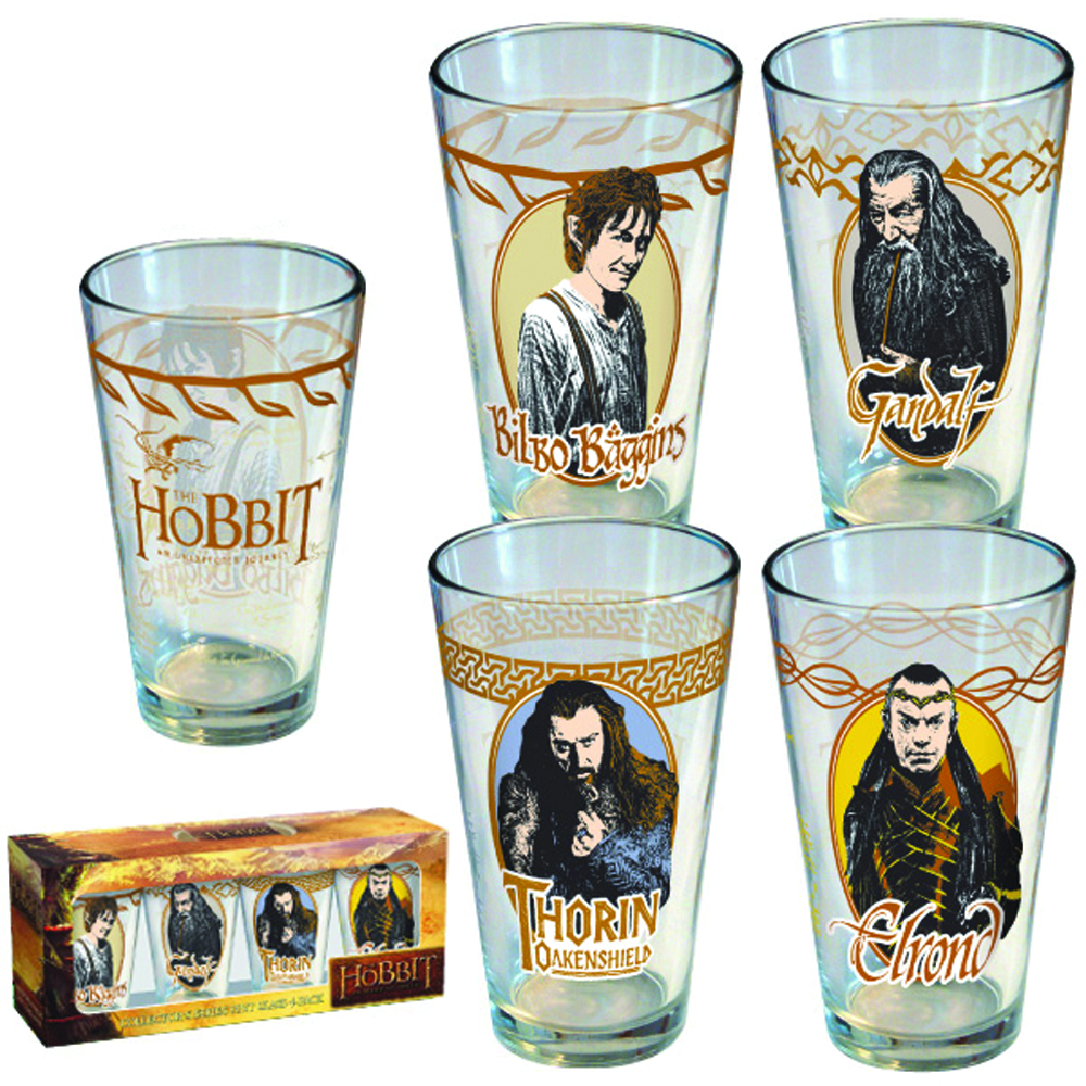 THE HOBBIT MOVIE 4-PACK PINT GLASS SET