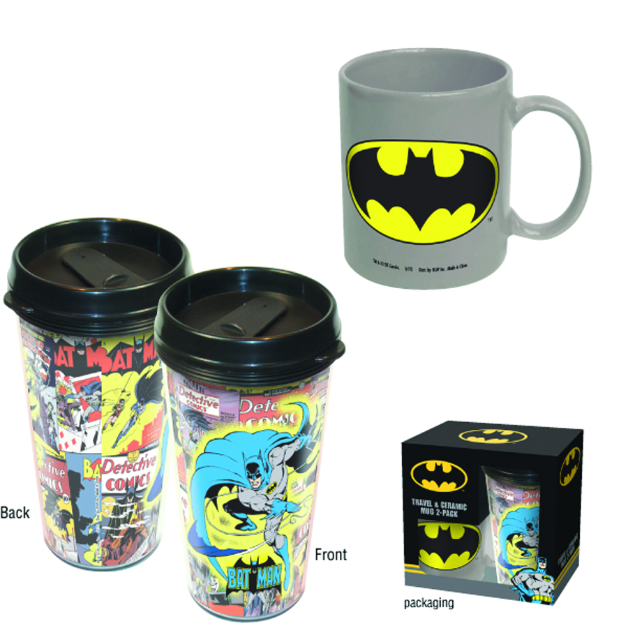 BATMAN CERAMIC AND TRAVEL MUG COMBO SET