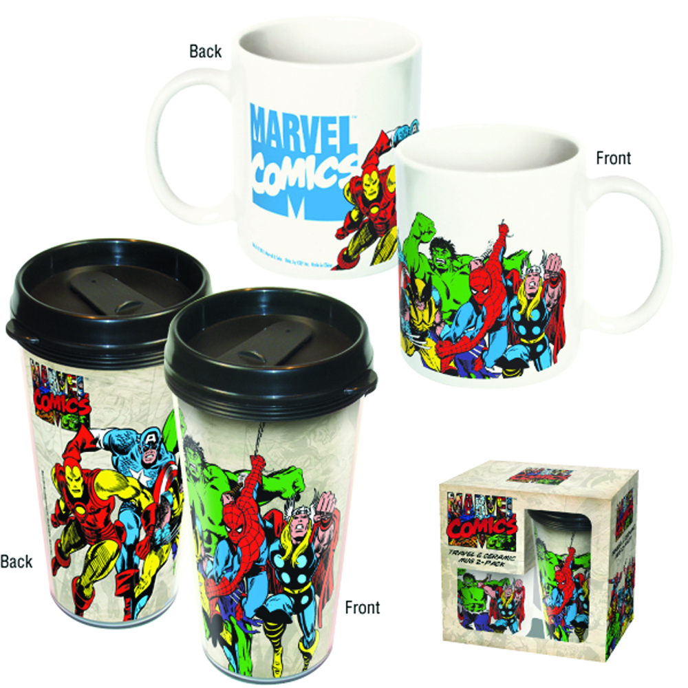 MARVEL HEROES CERAMIC AND TRAVEL MUG COMBO SET