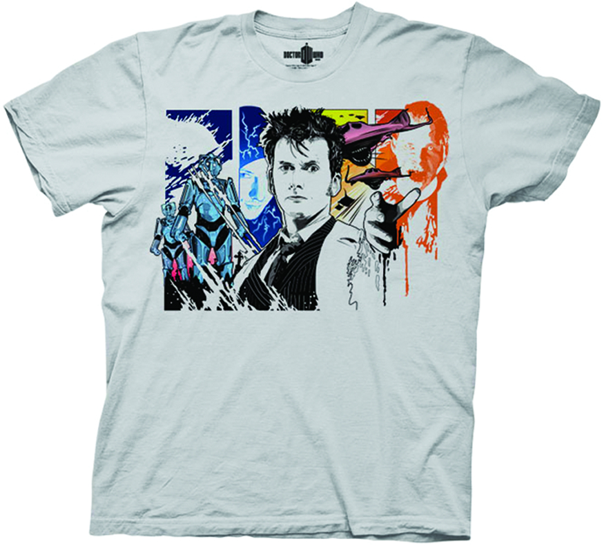 DOCTOR WHO TENTH DOCTOR PX GREY T/S LG