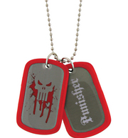 PUNISHER DOUBLE SIDED DOG TAG