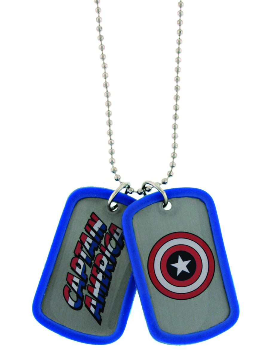 CAPTAIN AMERICA DOUBLE SIDED DOG TAG