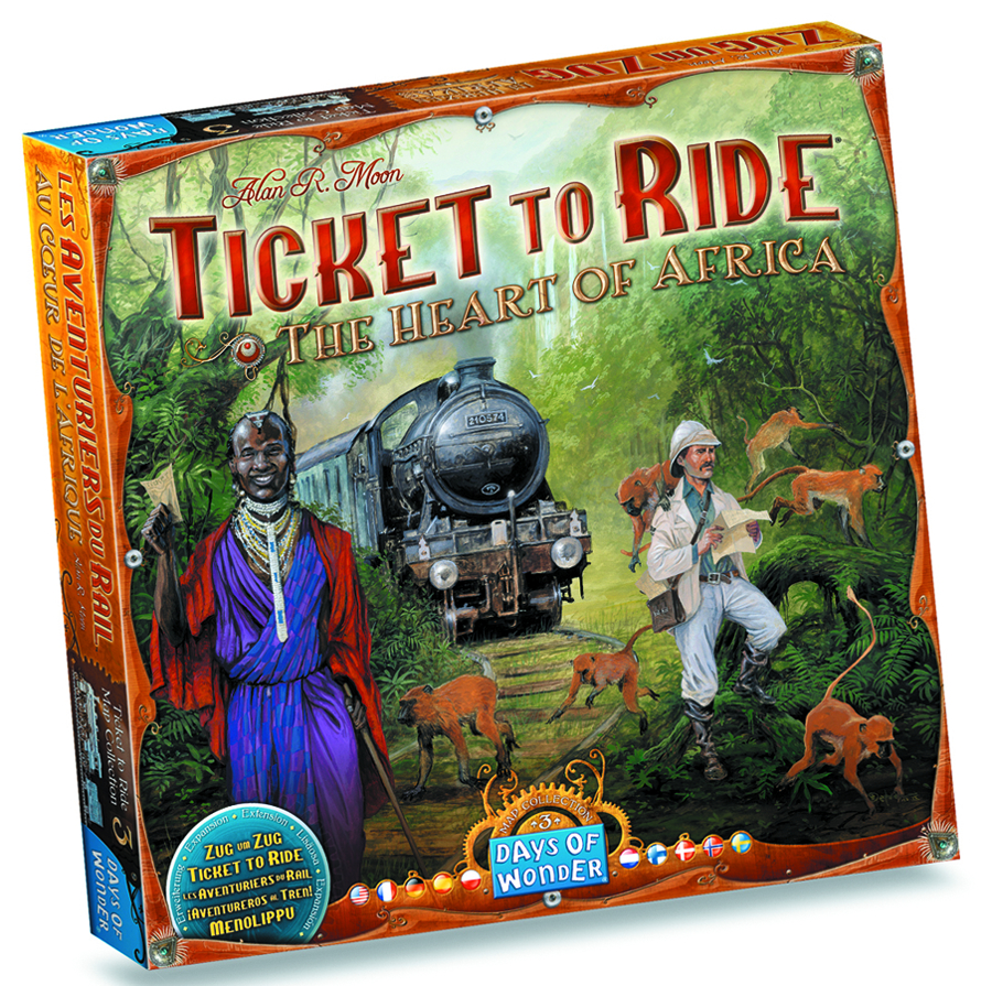 TICKET TO RIDE MAP COLLECTION 3 HEART OF AFRICA